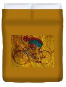 The Cyclist Duvet Cover by Andrew Fare