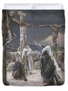 The Death Of Jesus Duvet Cover by Tissot