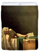 The Death Of Marat Duvet Cover by Jacques Louis David