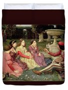 The Decameron Duvet Cover by John William Waterhouse