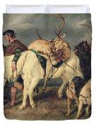 The Deerstalkers Return Duvet Cover by Sir Edwin Landseer