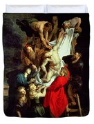 The Descent From The Cross Duvet Cover by Peter Paul Rubens
