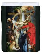 The Descent From The Cross Duvet Cover by Rubens