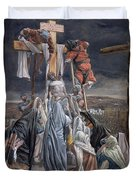 The Descent From The Cross Duvet Cover by Tissot