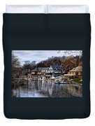 The Docks At Boathouse Row - Philadelphia Duvet Cover by Bill Cannon