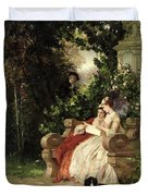 The Eavesdropper Duvet Cover by Carl Heinrich Hoff