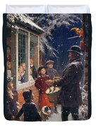 The Entertainer  Duvet Cover by Percy Tarrant