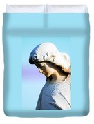 The Face Of An Angel Duvet Cover by Susanne Van Hulst