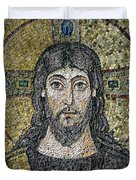 The Face Of Christ Duvet Cover by Byzantine School