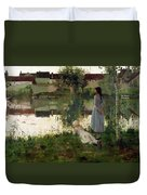 The Ferry Duvet Cover by William Stott