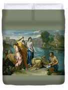 The Finding Of Moses Duvet Cover by Nicolas Poussin