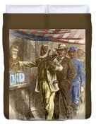 The First Vote 1867 Duvet Cover by Photo Researchers