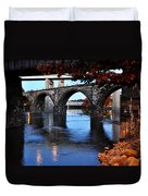 The Five Bridges - East Falls - Philadelphia Duvet Cover by Bill Cannon