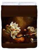 The Fleeting Sweetness Of Spring Duvet Cover by Lois Bryan