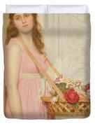 The Flower Seller Duvet Cover by George Lawrence Bulleid