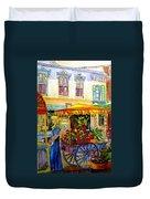 The Flowercart Duvet Cover by Carole Spandau