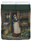 The Fruit Seller Duvet Cover by Victor Gabriel Gilbert