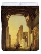 The Gates Of El Geber In Morocco Duvet Cover by Francois Antoine Bossuet