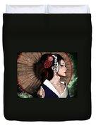 The Geisha Duvet Cover by Pete Tapang