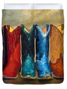 The Girls Are Back In Town Duvet Cover by Frances Marino