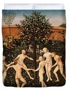 The Golden Age Duvet Cover by Lucas Cranach