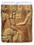 The Golden Shrine Of Tutankhamun Duvet Cover by Egyptian Dynasty