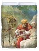 The Good Samaritan Duvet Cover by Ambrose Dudley