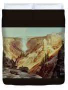 The Grand Canyon Of The Yellowstone Duvet Cover by Thomas Moran
