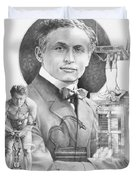 The Great Houdini Duvet Cover by Steven Paul Carlson