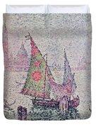 The Green Sail Duvet Cover by Paul Signac
