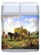 The Hay Harvest Duvet Cover by Hermann Kauffmann