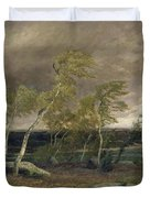 The Heath in a Storm Duvet Cover by Valentin Ruths
