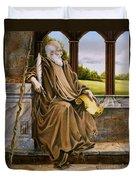 The Hermit Nascien Duvet Cover by Melissa A Benson