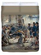 The Hero Of Trafalgar Duvet Cover by William Heysham Overend