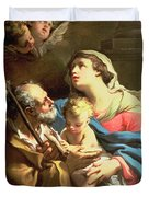 The Holy Family Duvet Cover by Gaetano Gandolfi