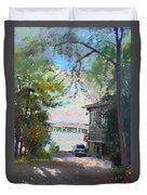 The House By The River Duvet Cover by Ylli Haruni