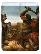 The Hunted Slaves Duvet Cover by Richard Ansdell