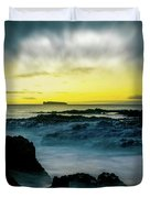 The Infinite Spirit  Tranquil Island Of Twilight Maui Hawaii  Duvet Cover by Sharon Mau