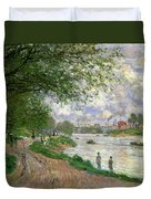 The Island Of La Grande Jatte Duvet Cover by Claude Monet