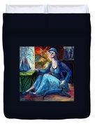 The Jeans Girl. 20 Years Later Duvet Cover by Elisheva Nesis