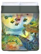 The Journey Begins Duvet Cover by Amy Kirkpatrick