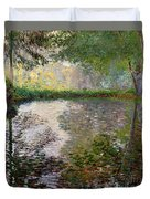 The Lake At Montgeron Duvet Cover by Claude Monet