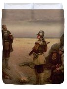 The Landing of the Pilgrim Fathers Duvet Cover by George Henry Boughton