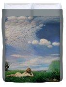 The Lark Duvet Cover by Pal Szinyei Merse