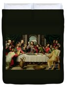 The Last Supper Duvet Cover by Vicente Juan Macip