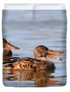 The Laughing Duck Duvet Cover by Wingsdomain Art and Photography