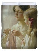 The Lesson Duvet Cover by William Kay Blacklock