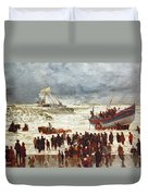 The Lifeboat Duvet Cover by William Lionel Wyllie
