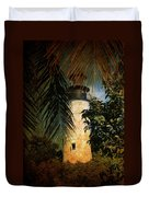 The Lighthouse In Key West Duvet Cover by Susanne Van Hulst
