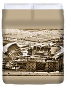 The Linc - Aerial View Duvet Cover by Bill Cannon